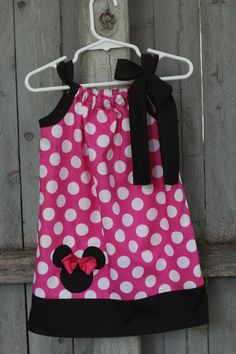 Pink Minnie Mouse Dress Disney Minnie Mouse Polka by SincerelyMe