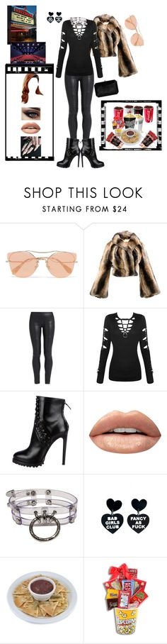 """""""Movie Night with my girls"""" by smilie-anne ❤ liked on Polyvore featuring Miu Miu, Vivienne Westwood, The Row, Huda Beauty, Rogue + Wolf and Tyler Ellis"""