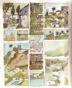 Los Angeles sketchbook by amanda kavanagh, via Flickr