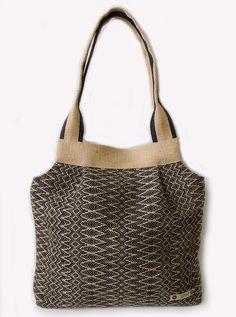 Spring Summer Bag 013/ Large purses/ Hand Woven by KangoTextile, $56.00