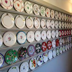 Copper Lamp Fine Silver Herend's plates