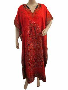 Kaftan Floral Print Red Womens Satin Caftan Kimono Sleeve Lounge Wear Mogul Interior,http://www.amazon.com/dp/B00HEZTZ5A/ref=cm_sw_r_pi_dp_Kcxntb0C4N5QXTHH