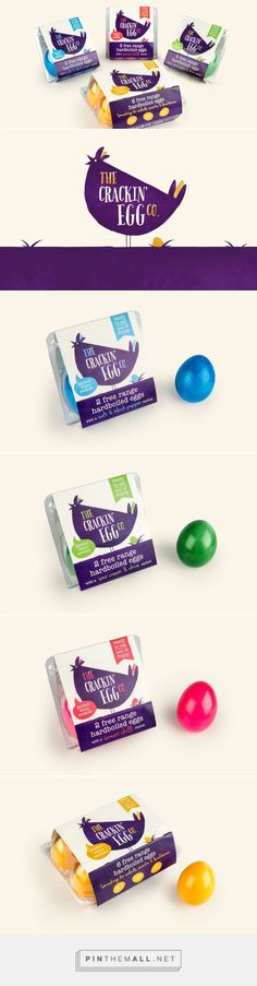 The Crackin' Egg Co via The Dieline - Branding & Packaging by Robot Food curated by Packaging Diva PD. Vibrant new identity for The Crackin' Egg Co. positions this bright new snack sensation to appeal to everyone from hungry kids to gym-going protein lovers.