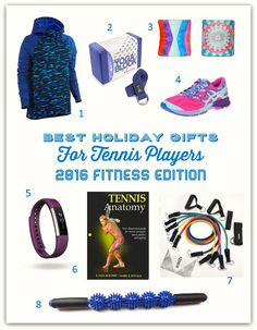 Best Holiday Gifts for Tennis Players – 2016 Fitness Edition Holiday Fun, Holiday Gifts, Tennis Gifts, Tennis Workout, Tennis Players, Engagement Gifts, Best Gifts, My Favorite Things, Fitness