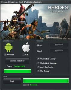 If you need resources for Heroes of Dragon Age you have to use this Hack tool. We have created working Heroes of Dragon Age Hack which can provide Unlimited Coins, Gems and even more. It can give you Unlimited Stamina and Energy also.