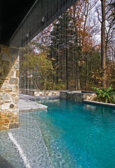 38 Wonderful Outdoor Water Walls For Your Backyard : 38 Amazing Outdoor Water Walls For Your Backyard With Glass Waterfall And Pond With Natural Stone Flooring Ideas De Piscina, Living Pool, Outdoor Living, Glass Waterfall, Pool Waterfall, Indoor Waterfall, Pool Fountain, Natural Stone Flooring, Water Walls