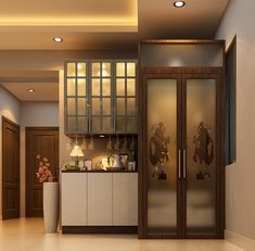 Small House Interior Design, Home Room Design, Interior Designing, Dining Room Design, Pooja Room Door Design, Bedroom Door Design, Space Saving Dining Table, Temple Design For Home, Mandir Design