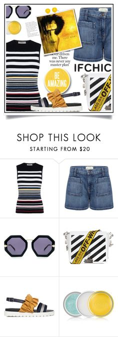 """""""IFCHIC.COM SUMMER SALE/Contest with prize!"""" by ewa-naukowicz-wojcik ❤ liked on Polyvore featuring Preen, Current/Elliott, Karen Walker, Off-White, Mother of Pearl, JuJu, Clinique, Kim Rogers, summersale and ifchic"""