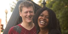 An engagement shoot that profiled both friends and the neighborhood they live in, Logan Circle of Washington, DC.