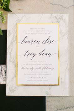 Marble wedding invitations | Sarah Pudlo & Co