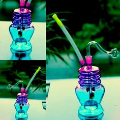 Mini Glass Bongs 15cm Tall Colorful Bottle Shape Headshower Straw Glass Water Pipes Joint Size 10mm New Arrival Glass Pipe Hookahs Online with $15.78/Piece on Cheersmoking's Store | DHgate.com