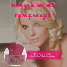 Never go to bed with makeup on again! www.LasVegasMakeupEraser.com