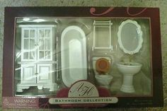dollhouse furniture ebay   American Heirloom Dollhouse Bathroom Furniture   eBay