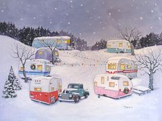 inside of vintage travel trailers | Vintage Travel Trailer Airstream Spartan Terry Nomad RV CHRISTMAS NOTE