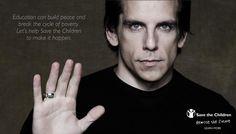 Ben Stiller for Bulgari & Save the Children.Think.