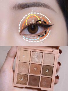 Eye Makeup Brushes, Makeup Geek, Beauty Makeup, Korean Makeup Tips, Asian Eye Makeup, Cute Makeup, Makeup Looks, Ethereal Makeup, Ulzzang Makeup