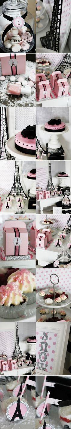 Parisian themed bridal shower :)