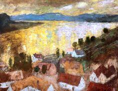 István Szönyi (Hungarian, 1894-1960) - Landscape, Zebegény, 1929-30