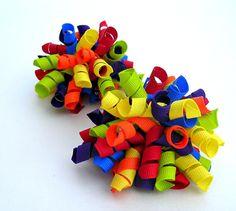 Korker Hair Clippies Set/HandMade Hair Accessories/Toddler/Infant/NewBorn $4.99