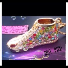 Betsy Johnson Magnificent Jewel Encrusted Shoe.