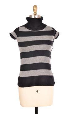 Take Ce It Black and Grey Turtleneck Size M   ClosetDash #sweater #fashion #style
