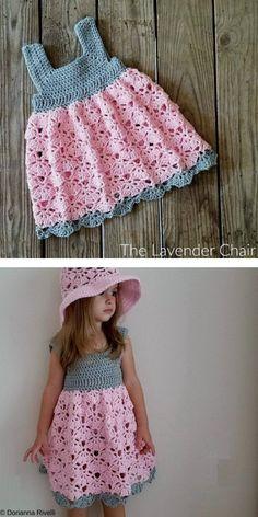 Crochet Baby Dress Free Pattern, Baby Girl Dress Patterns, Cute Crochet, Baby Patterns, Crochet Patterns, Knit Crochet, Crochet Hats, Crochet Toddler, Baby Girl Crochet