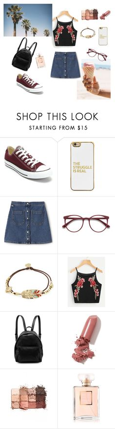 """summer vibes"" by musicajla ❤ liked on Polyvore featuring Converse, BaubleBar, Lacoste L!VE, EyeBuyDirect.com, Gas Bijoux, STELLA McCARTNEY, LAQA & Co., tarte, Chanel and Summer"