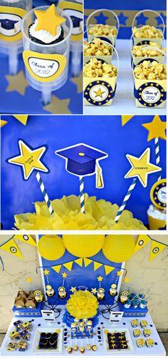 Graduation Party Ideas / FREE Party Printables www.blog.birdpartys.com