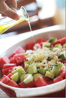The Good Life: Clean Eating Recipes: Cucumber Watermelon Salad with Feta and Basil