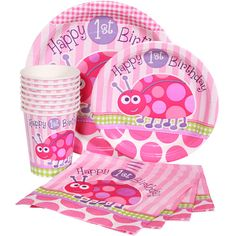 Ladybug Pink Girl 1st Birthday Party Supplies Choose Items You Need First   eBay