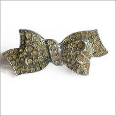 50's Diamante Bow Brooch