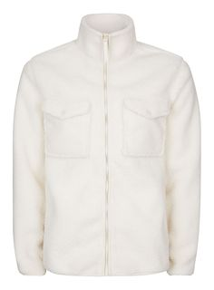 best cheap b0f64 feaf5 Carousel Image 0 Borg Jacket, Unisex, White Texture, Men s Coats And  Jackets,