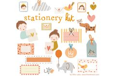 Stationery Kit Vector by Little Cube on @creativemarket  Creative Market