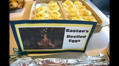Beauty and the Beast birthday party. Gaston deviled eggs