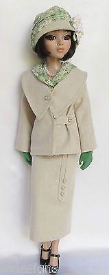 OOAK Lady Amber's Summer Suitable 1920s for Ellowyne,unlined Linen Jacket, lined Skirt, Blouse w/self Belt, Cloche Hat by Ssdesigns | via eBay SOLD 5/26/13  $539.99