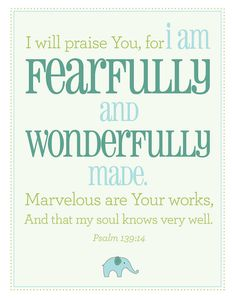 Fearfully and wonderfully!