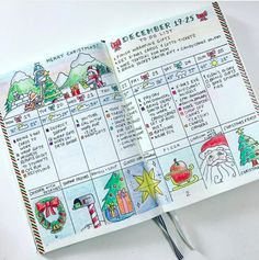 Gorgeous Christmas Bullet Journal Pages