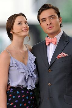Ed Westwick and Leighton Meester in Formal Wear