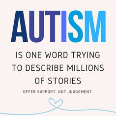 #Autism is one word trying to describe millions of stories. https://www.speechmark.net #AutismAwareness #ASD #Autistic