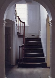bronte parsonage in haworth. I can see in my imagination, the Bronte sisters climbing the stairs, or Bromwell clinging to the banister as he climbs the stairs in a sickly state.