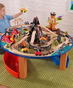 be132578823c2d Circuit routier et de trains 2 en 1 en bois   Kids Stuff - Trucs et ...