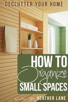Free Kindle Book For A Limited Time : How to Organize Small Spaces: Decluttering Tips and Organization Ideas for Your Home - How to Organize Small Spaces by Heather Lane is a practical step-by-step guide that focuses from room to room to help you to develop efficient methods to declutter your home and keep it clean without feeling overwhelmed, even in small spaces.If you would like to organize your home and life without feeling completely overwhelmed with where to start, this book is for…