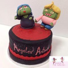 Tarta zombies Hadas de Azúcar / Zoombies fondant cake