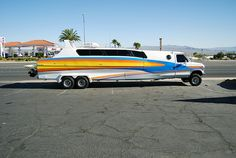 Ford Aquavan Boaterhome, photographed in Boulder City (Nevada) Station Wagon, Trailerable Houseboats, Rv Motorhomes, Boulder City, 4x4 Van, Cool Campers, Cool Vans, Camper Trailers, Cars