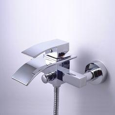 Antique Bronze Single Handle Wall-mount Waterfall Shower Tap - T0517W  http://www.uktaps.co.uk/bathtub-taps-c-21.html