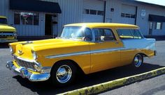 1956 Chevrolet Nomad - a little bright on the eyes, but hey!  It's still a Nomad