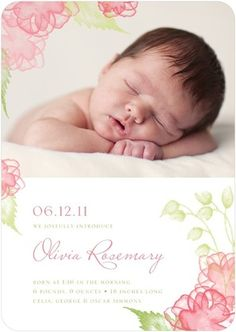Pretty Baby Girl Birth Announcements from TinyPrints