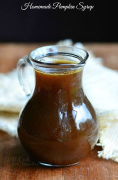 Homemade Pumpkin Syrup | from willcookforsmiles.com #pumpkinrecipes #fallrecipes