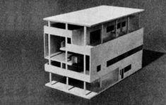 Corbusier- maison Baizeau= intention de construire en volume, coupe magnifique tenue entre deux parois aveugles,