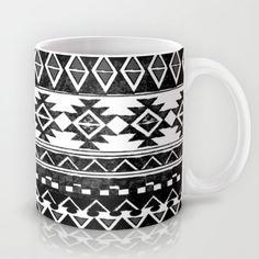 #tribal #native #monochrome #ethnic #pattern #mug #black #white #chic #home #decor #interior #design #kitchen #giftidea #cool #trend #lovemyhome #nikamartinez